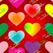 Valentine hearts and text pattern — Stock Photo