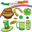 Royalty-Free Stock Photo: Saint patrick&#039;s day doodles