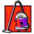 Retro vacuum cleaner clip art - Foto Stock