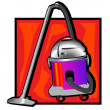 Retro vacuum cleaner clip art - Stock Photo