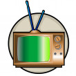 Retro tv set clip art — Stock Photo