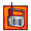 Retro radio clip art — Stock Photo