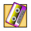 Retro tape clip art — Stock Photo
