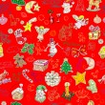 Green christmas pattern — Stock Photo
