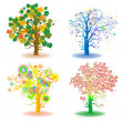 Seasons trees — Stockfoto