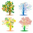 Seasons trees - Stock Photo