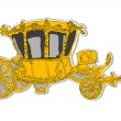 Stock Photo: Old carriage rococo sticker