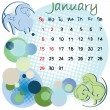 January 2012 holidays — Stock Photo