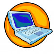 Royalty-Free Stock Photo: Laptop clipart