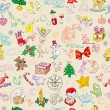 Christmas rich pattern — Stockfoto