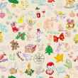 Stock Photo: Christmas rich pattern