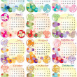 Foto de Stock  : Calendar 2012 with zodiac signs