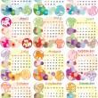 Calendar 2012 with zodiac signs — Stock Photo