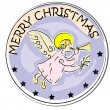 Christmas angel sticker — Lizenzfreies Foto