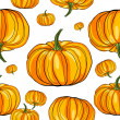 Stock Photo: Thanksgiving pumpkin pattern