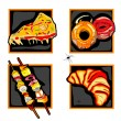 Halloween scary fast food icons — Foto de Stock