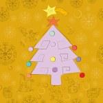 padrão de cartão de Natal — Foto Stock