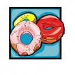 Clip art donuts — Stock Photo