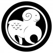 Zodiac sign, The Ram tattoo — Stock fotografie