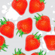Seamless straberries background — Foto Stock
