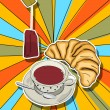 Pop art tea time — Foto Stock
