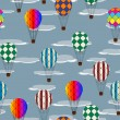 Stock Photo: Hot air balloon pattern