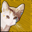 Grunge cat background — Zdjęcie stockowe