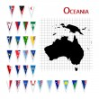 Stock Photo: Flags of Oceania