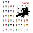 Flags of Europe — Stockfoto
