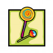 Clip art lollipop and candy — Stockfoto