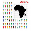 Royalty-Free Stock Photo: Flags of Africa