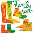 Four funny pairs of socks — Stock Photo
