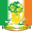 Lucky shamrock bouchet — Stock Photo