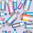 Plastic bottle pattern — Stock Photo