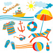 Foto Stock: Beach icons