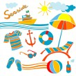 Foto de Stock  : Beach icons