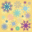 Coloured snowflakes — Foto Stock
