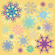 Coloured snowflakes — Foto de Stock
