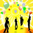 Children and balloons — Foto Stock