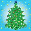 Christmas tree decorated — Lizenzfreies Foto