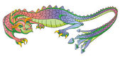 Dragon cartoon — Stock Photo