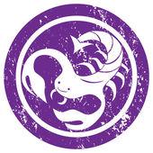 знак зодиака скорпион штамп — Стоковое фото