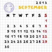 September 2013 — Stockfoto