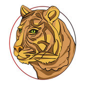 Tiger sign — Stock Photo