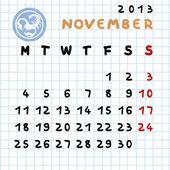 ноябрь 2013 — Стоковое фото