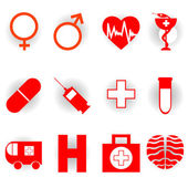 Medical icons — Stock Photo