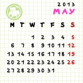 May 2013 — Stock Photo