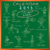 Calendar 2013 student profile cover — Stock Photo