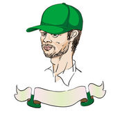 Man with a cap — Stock Photo