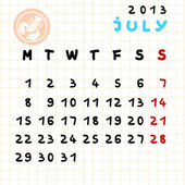 July 2013 — Stock Photo